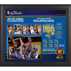 Golden State Warriors Fanatics Authentic 2015 NBA Finals Champions Framed 15'' x 17'' Collage with Piece of Game-Used 2015 Finals Basketball - Limited Edition of 250
