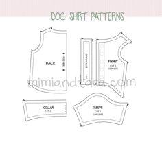 Dog shirt patterns   Mimi & Tara   Free Dog Clothes Patterns