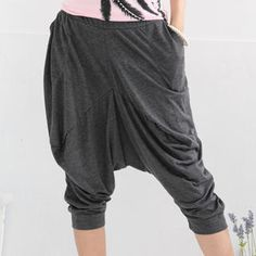 Cropped Harem Pants - these look so flippin' goofy, but sooooo comfy to wear around the house!