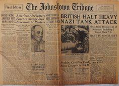 The Johnstown Tribune - World War II: April 22, 1943: BRITISH HALT HEAVY NAZI TANK ATTAC...