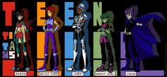 Teen Titans genderbend
