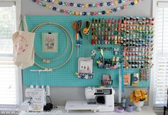 [ Genius Sewing Room Hacks Melly Sews ] - Best Free Home Design Idea & Inspiration Sewing Room Storage, Sewing Room Organization, My Sewing Room, Sewing Rooms, Craft Storage, Thread Storage, Storage Ideas, Sewing Crafts, Sewing Projects