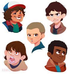 Stranger Things Kids by Xanxor on DeviantArt