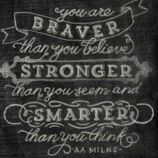 Great free (and paid) printables! braver stronger