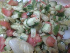 Cucumber Tomato Salad... best #diet food, #health, #fitness #detox