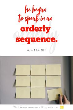The Sequence: use it for persuasive content. #Devotional with Word Wise at Nonprofit Copywriter #ChristianWriting #ContentWriting