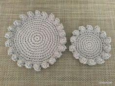 【編み図】パップコーン編みのミニトレイ