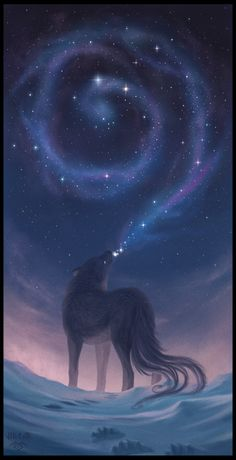 January, the Wolf Full Moon is upon us. Lone Wolf by Vietar-art Anime Wolf, Fantasy Creatures, Mythical Creatures, Wolf Wallpaper, Animal Wallpaper, Black Wallpaper, Wolf Spirit, Amazing Art, Awesome