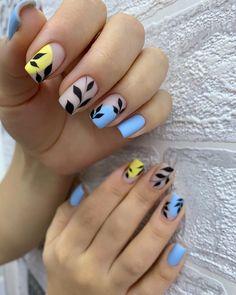 Nail Polish Designs, Gel Polish, Nail Art Designs, Almond Nail Art, Nail Growth, Minimalist Nails, Best Acrylic Nails, Hot Nails, Bling Nails