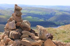 A cairn on Kinder Sc