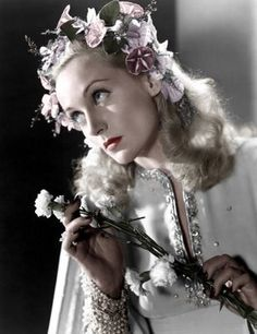Carole Lombard as Ophelia (Colorized by Lolita) in To Be Or Not To Be (1942), dir. Ernst Lubitsch