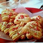German Spritzgebaeck Cookies