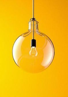 hängelampe kugel glaskugel lampen deckenlampen orange hintergrund
