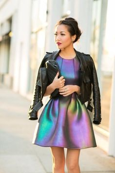 Iridescent scuba dress:    Why do nice things have to be so expensive!!!