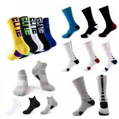 Basketball Socks Thickening Towel Bottom Tube Men/'s Cotton Sports Socks DB