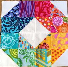 If I ever join a quilting bee, this is the block I want to do!