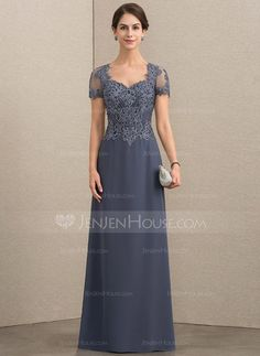 A-Line/Princess Sweetheart Floor-Length Chiffon Lace Mother of the Bride Dress With Beading Sequins - Mother of the Bride Dresses - JJsHouse Mob Dresses, Fashion Dresses, Bridesmaid Dresses, Formal Dresses, Mother Of The Bride Dresses Long, Mothers Dresses, Lace Evening Dresses, Bride Gowns, Wedding Party Dresses