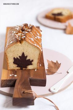 Cinnamon Apple Cake with Leaf / Heart Shape