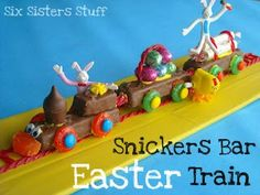 Snickers Bar Easter Train! The perfect Easter Craft to make with your kids!