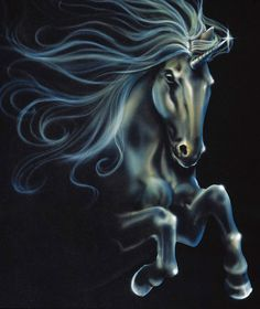 Midnight Unicorn by The Art of Spirit via Etsy.