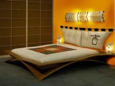 How to make DIY Platform Wood Bed Frames with lamp decoration... I like this one never seen a bed made like this been searching for one to make