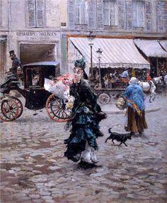 Crossing the Street - Giovanni Boldini; 1875