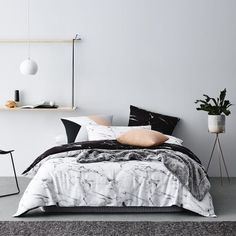 Great Home Republic Hofn Quilt Cover Set, doona cover, bedlinen The post Home Republic Hofn Quilt Cover Set, doona cover, bedlinen… appeared first on Derez Decor . Marble Bedding, Marble Duvet Cover, Marble Bed Set, Pink Marble, Dream Bedroom, Home Bedroom, Bedroom Furniture, Furniture Sets, Furniture Styles