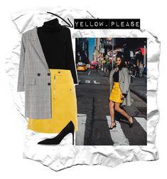 """Yellow, Please"" by emmy-calmius on Polyvore featuring Chloé, Karen Millen, MANGO and René Caovilla"