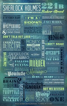 The Name is Sherlock Holmes... by rockinrobin.deviantart.com on @deviantART This is awesome!!