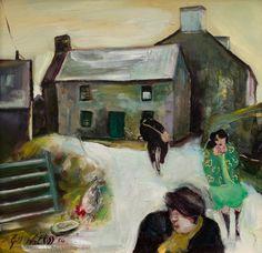 'Farm near Morvah' by Gill Watkiss, 1986 Gaston Bachelard, Landscape Paintings, Landscapes, Master Art, English Artists, Old Farm, Love Photos, Cornwall, Painters