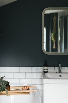 Cute Small Bathroom Colours 66 For Your Small Home Remodel Ideas with Small Bathroom Colours Can you Want to have a fantastic living room decoration idea? Well, for this thing, you will need to know about the Small Bathroom Colours. Small Dark Bathroom, Small Bathroom Colors, Dark Bathrooms, Bathroom Color Schemes, Bathroom Red, Small Bathroom Vanities, Bathroom Layout, Dream Bathrooms, Bathroom Interior Design