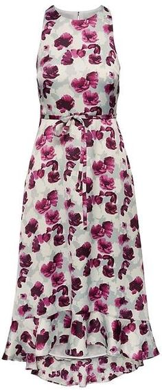 Floral Fit-and-Flare Maxi Dress