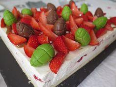 Bavarois léger fraises & fromage blanc vanillé