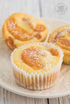 Kaesekuchen-Muffins mit Mandarinen: Rezept für Käsekuchen im Miniformat. Geht als Käsekuchen ohne Boden genauso wie mit Mürbteig.