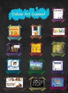 Art Room Online Games: art, color, education , education, online games | Glogster EDU - 21st century multimedia tool for educators, teachers and students