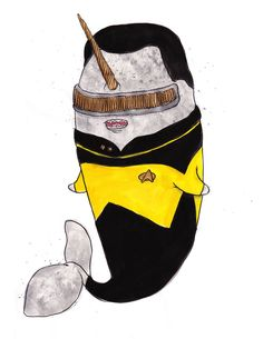 Geordi La Forge Narwhal. Last Narwhal art pin, I swear.  At least for a little while...