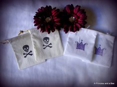 Pirate and Purple Princess Party Favor Bags by APrincessAndABee
