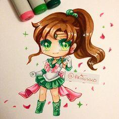 Chibi fanart of Sailor Jupiter in her super form =D #sailormoon #sailorjupiter…