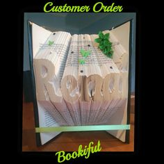 Personalised book fold any name or word £20