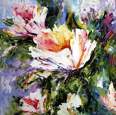 White Flowers Print by Laurie Pace
