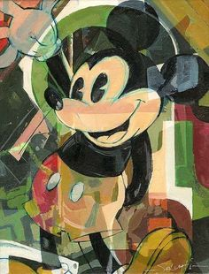 Disney Fine Art Gallery Wrapped Giclee - High Five by Jim Salvati featuring Mickey Mouse