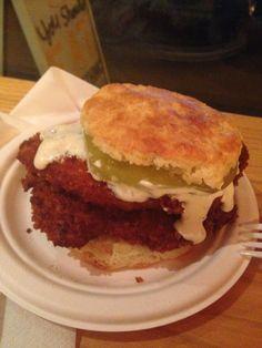 Empire Biscuit, NYC #friedchicken #greentomato #biscuit