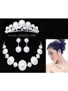 Gorgeous Alloy with Imitation Pearls Wedding Bridal Jewelry Set JAY0004