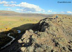Brittany Konsella mountain biking at Hartman's Rocks near Gunnison, CO