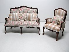 Vintage sofa and chair...love them!