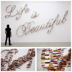 Farhad Moshiri #installation #thevintees #lifeisbeautiful #artweenjoy