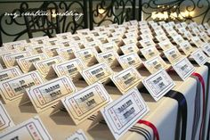 Ticket table cards