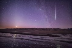 Shooting Star and Venus at Great Sand Dunes National Park