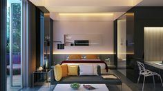 More indirect lighting offers decorative influence. Indirect lighting is always great for bedrooms because it's less intense, and eliminates the need for ceiling lighting which can shine directly into the eyes when laying down and trying to relax.
