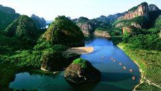 Espectacular foto del #MonteLonghushan en #Jiangxi, #China.
